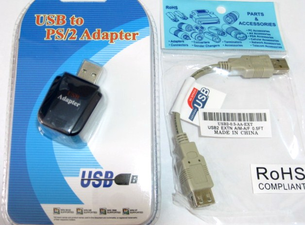 ps 2 to usb adapter converter for keyboards short usb cable ps2 usb keyboard converter